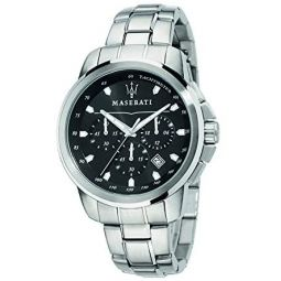 Maserati Mens Successo R8873621001 Quartz Silver Stainless Steel Bracelet Watch