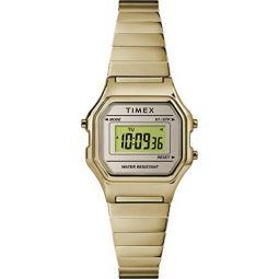 Timex Digital Mini 27 mm Gold-Tone Watch TW2T48000
