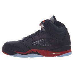 Jordan Retro 5 Satin Bred Black/University Red (GS) (5.5 M US Big Kid)