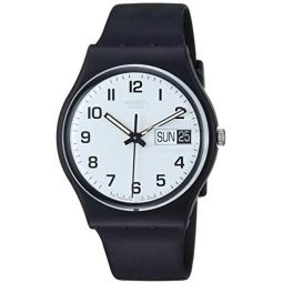 Swatch Womens GB743 Once Again Black Plastic Watch: Swatch: Watches