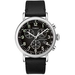 Timex 41 mm Standard Chronograph Leather Strap
