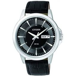 Citizen Mens Analogue Quartz Watch with Leather Strap BF2011-01EE