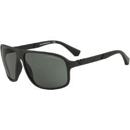 Emporio Armani EA4029 Square Sunglasses For Men +FREE Complimentary Eyewear Care Kit