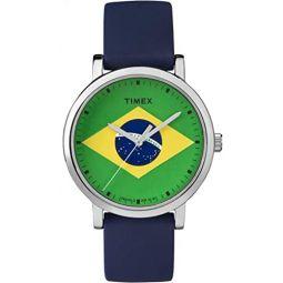 Timex Quartz Silicone Strap, Blue, 18 Casual Watch (Model: TW2P72400)