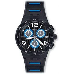[Swatch] Swatch watch New Chrono Plastic (New Chrono plastic) BLACK SPY (black spy) Mens SUSB410 [regular imported goods] SUSB410 Mens [regular imported goods]