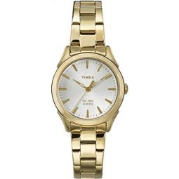 Timex Womens Quartz Watch with Dial Analogue Display and Two Tone Stainless Steel Bracelet