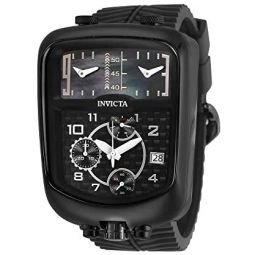 Invicta Mens S1 Rally Stainless Steel Quartz Watch with Silicone Strap, Black, 28 (Model: 29709)