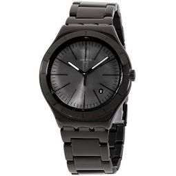 Swatch Irony Quartz Movement Black Dial Mens Watch YWB404G: Clothing