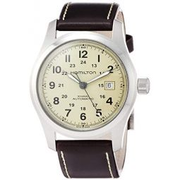 Hamilton Mens Field H70555523 Brown Leather Swiss Automatic Watch