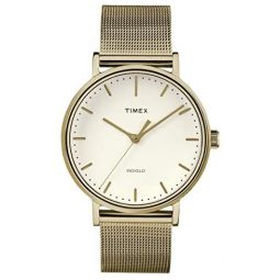 Timex Fairfield Natural Dial Stainless Steel Ladies Watch TW2R26400