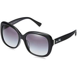 코치 여성용 선글라스 (HC8158) 아세테이트