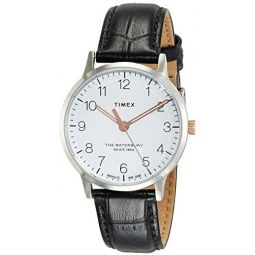 Timex Waterbury Classic 36 mm Black Leather Watch TW2R72400