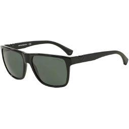 Emporio Armani EA4035 Square Sunglasses For Men+FREE Complimentary Eyewear Care Kit