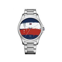 Tommy Hilfiger Smartwatch 쿼츠 스테인리스 스틸 캐주얼 시계, 컬러 실버톤 (모델: 1791405)
