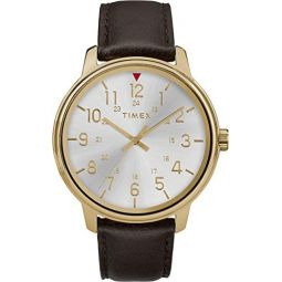 Timex Mens Core 43 mm Leather Strap Watch