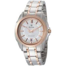 Bulova Mens 98B141 Precisionist Longwood Two-Tone Bracelet Watch