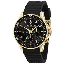 Maserati Mens Sfida R8871640001 Black Silicone Quartz Fashion Watch