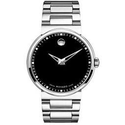 Movado Mens 0606433 Dura Tungsten Carbide Black Round Dial Watch