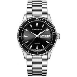 Hamilton Mens H37511131 Jazzmaster Analog Display Quartz Silver Watch