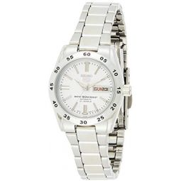 Seiko Womens Year-Round Automatic Watch with Stainless Steel Strap, Silver, 12 (Model: SYMG35K1)