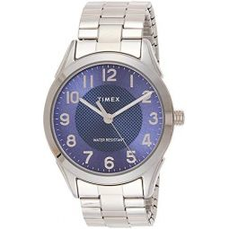 Timex Mens Briarwood TW2T46100 Silver Stainless-Steel Japanese Quartz Fashion Watch