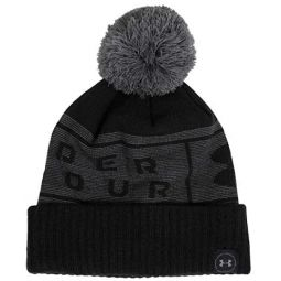 Under Armour Mens Big Logo Pom Beanie