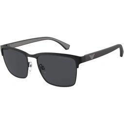 Emporio Armani EA2087 301487 Matte Black EA2087 Square Sunglasses Lens Category