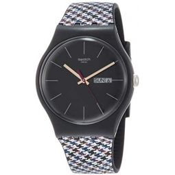 Swatch Originals Warmth Black Dial Silicone Strap Unisex Watch SUOB725: Clothing