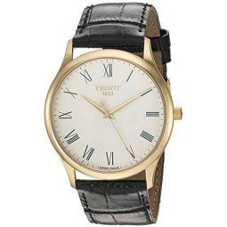 Tissot Unisex Excellence Swiss Quartz Steel And 18K Gold Dress Watch (Model: T9264101601300): Clothing