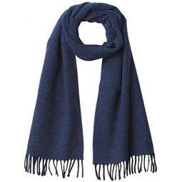 Lacoste mens Woven Jacquard Fringe Scarf