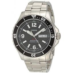Fossil Mens FB-02 Stainless Steel Casual Quartz Watch