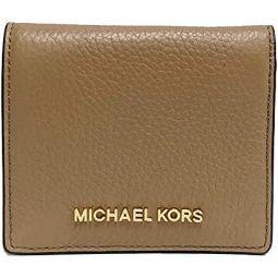 Michael Kors Jet Set Travel Md Carryall Credit Card Case Leather Wallet