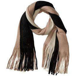 Billabong Womens On The Fringes Striped Scarf