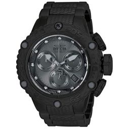 Invicta Mens Subaqua Quartz Watch with Stainless Steel Strap, Black, 28.7 (Model: 26649)