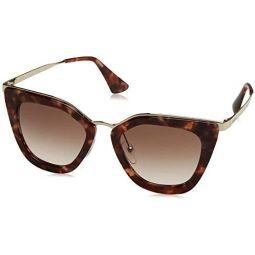 Prada 여성용 메탈 브릿지 미러 선글라스