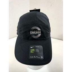 Nike Adult Unisex 2018 Bank of America Chicago Marathon Vented Aerobill Tailwind CHI Running Hat Cap, Adjustable, One Size Black/White