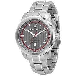 Maserati Watch R8853137002 Royale Date Window Grey/Stainless Steel