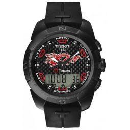 Tissot Mens T-Touch Expert Titanium Swiss-Quartz Watch with Rubber Strap, Black, 21 (Model: T0134204720101): Tissot: Clothing