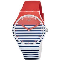 Swatch Maglietta MenS Silicone Strap Watch Suow140