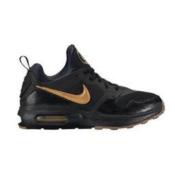 NIKE Mens Air Max Prime Shoe Black/Metallic Gold-Gum Med Brown