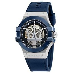 Maserati Mens Potenza R8821108028 Blue Silicone Automatic Fashion Watch