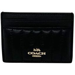 Coach Card Case With Quilted Leather Black Style 2980