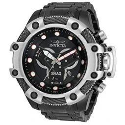 Invicta Mens Shaq Quartz Watch with Stainless Steel Strap, Black, 26 (Model: 33656)