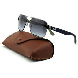 Ray-Ban RB3530 Unisex Square Metal Sunglasses