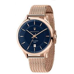 MASERATI Mens Gentleman Quartz Stainless-Steel Strap, Rose Gold, 20 Casual Watch (Model: R8853136003)
