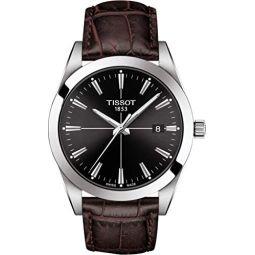 Tissot Mens Gentleman Swiss Quartz Stainless Steel Dress Watch T1274101605101