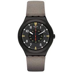 Swatch st. Steel Quartz bimaterial Strap, Brown, 19 Casual Watch (Model: YWB406)