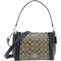 Coach Womens Small Marlon Shoulder Bag in Black, Style 1600