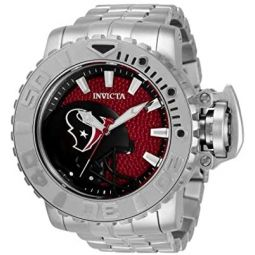 Invicta NFL Houston Texans Automatic Red Dial Mens Watch 33008