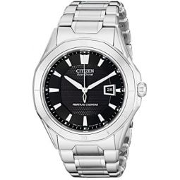Citizen Mens Eco-Drive Signature Perpetual Calendar Watch with Date, BL1270-58E: Clothing